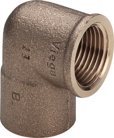Viega Winkel 94090G in 15mm x Rp3/4 Rotguss