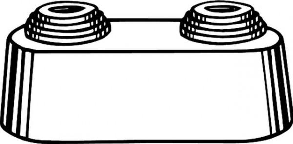 Heimeier Doppelrosette weiß Mittenabstand 50 mm