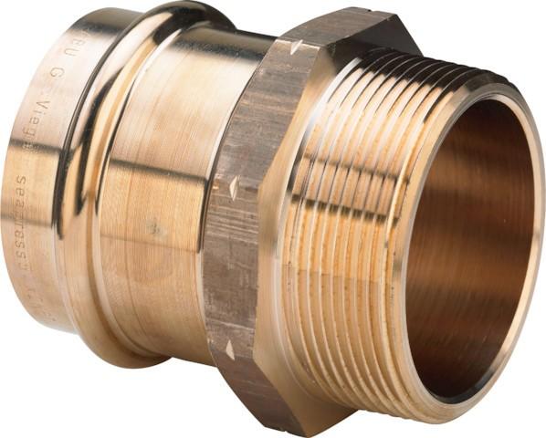Viega Übergangsstück Seapress 0311.5 in 28mm x 1 NPT CuNiFe