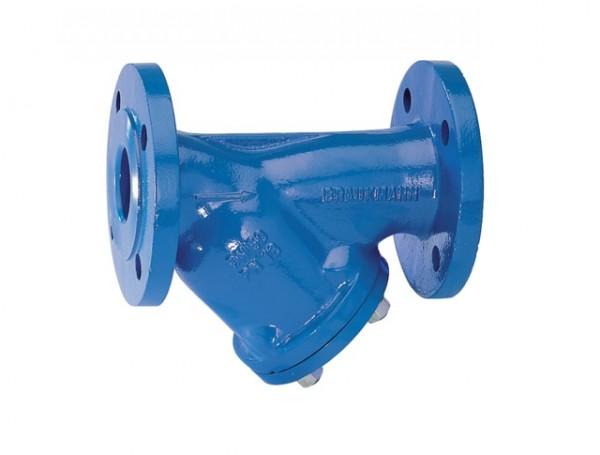 Honeywell Schmutzfänger FY69P mit Flanschen GG blau A A DN 150
