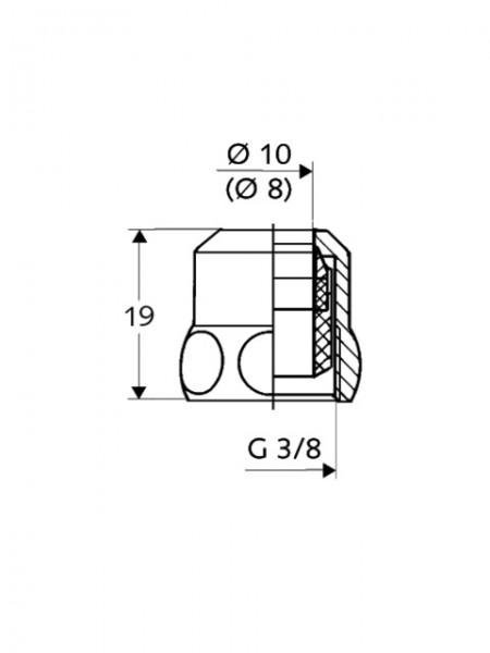"""SCHELL Spezial-Quetschverschraubung 3/8""""x10mm chrom mit Längenausgleich"""