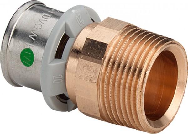 Viega Übergangsstück mit SC-Contur Sanfix P 2111 in 16mm x R1/2 Rotguss