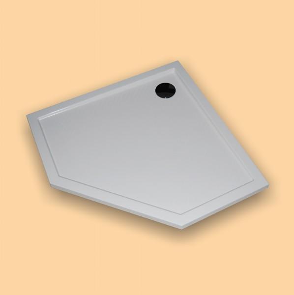 Hüppe Duschwanne Purano 5-Eck 90/90, weiß
