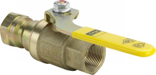 Viega Gas-Kugelhahn G2101T TAE in Rp2 Messing