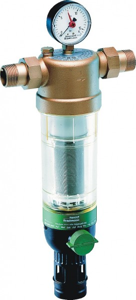 Honeywell Hauswasser-Feinfilter F76S Messing AD, 1&quot