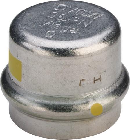 Viega Verschlusskappe SC-Contur Sanpress Inox G 0256 für Gas in 22mm Edelstahl