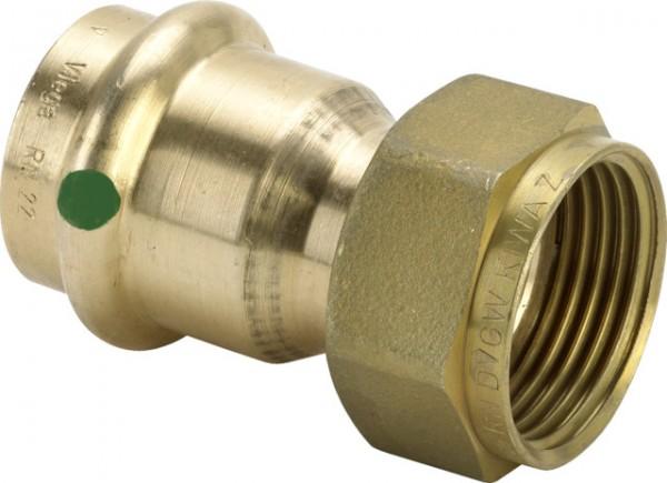 Viega Verschraubung mit SC-Contur Sanpress 2263 flachdichtend in 54mm x G2 3/8 Rotguss