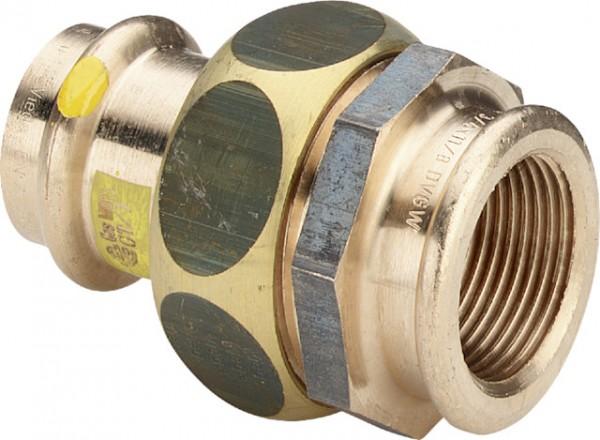 Viega Verschraubung mit SC-Contur Profipress G 2652 für Gas in 54mm x Rp2 Rotguss