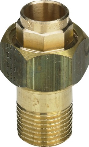 Viega Rohrverschraubung 94341G konischdichtend in 15mm x R3/4 Rotguss