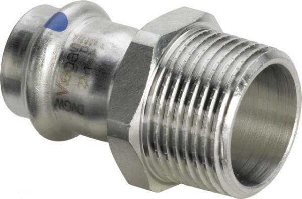 Viega Übergangsstück mit SC-Contur Sanpress Inox 2311LF in LABS-frei in 22mm x R1/2