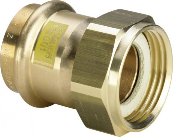 Viega Verschraubung mit SC-Contur Profipress G 2666 in 35mm x G1 1/2 Rotguss