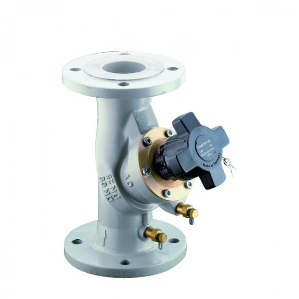 Oventrop Strangreg.Vent.Hydrocontrol VFN DN65, PN25, Flansch/DIN,2 Meßvent.,GGG50