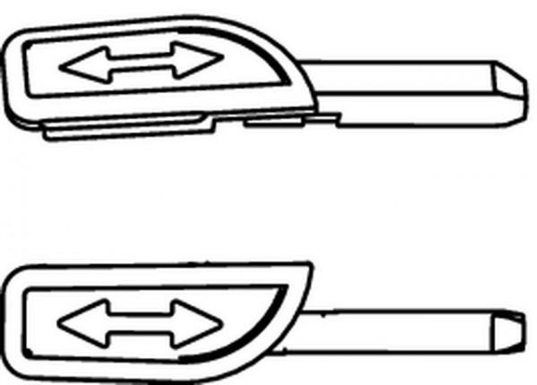 HEIMEIER Sparclip zu Thermostat-Köpfen blau, Baureihe ab Januar 2000