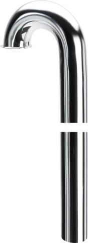 Viega Bodenrohr 180 Grad 5611.1-147 in 38x680mm Messing verchromt