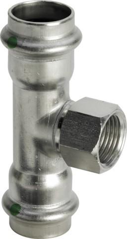 Viega T-Stück mit SC-Contur Sanpress Inox 2317.2 in 15mm x Rp1/2 x 15mm Edelstahl
