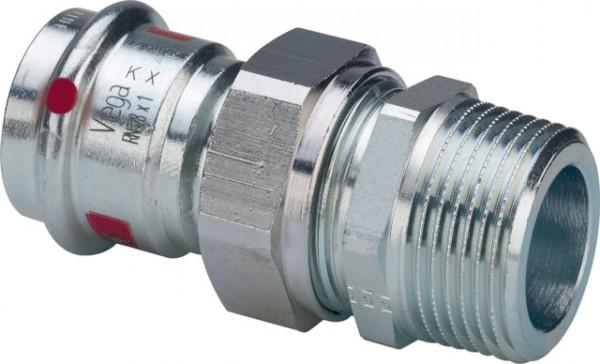 Viega Verschraubung mit SC-Contur Prestabo 1165 in 42mm x R11/2 Stahl verzinkt