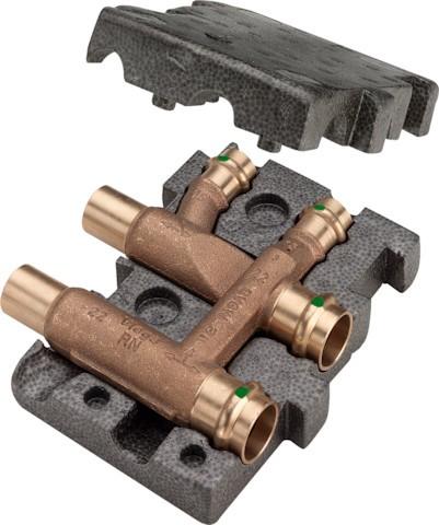 Viega Estrichverteiler mit SC-Contur Profipress Therm 2252 in 22x10x22mm Rg