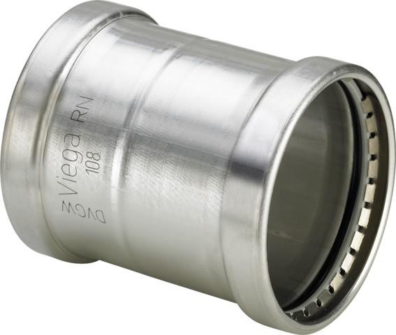 Viega Schiebemuffe mit SC-Contur Sanpress Inox 2315.5XLLF in LABS-frei in 88,9mm