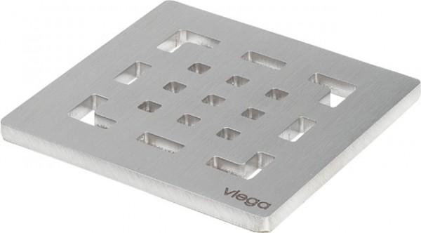 Viega Rost 4928.2 in 100x100mm Edelstahl matt-vernickelt
