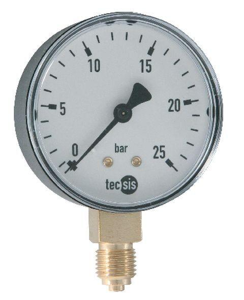 Manometer mit senkrechtem Anschluß G1/4 für HWS-Flansch-2000, Hauswasserstation 2000 Plus und