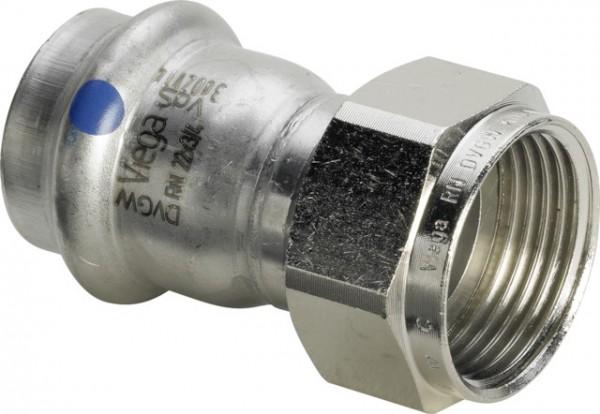 Viega Verschraubung mit SC-Contur Sanpress Inox in 2363LF in LABS-frei in 18mm x G3/4