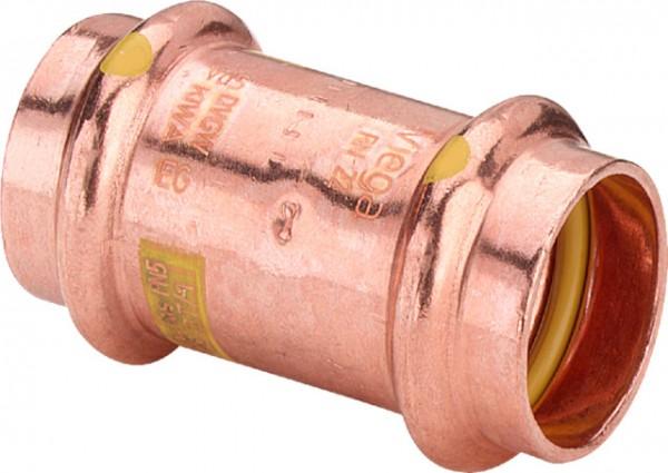 Viega Muffe mit SC-Contur Profipress G 2615 für Gas in 22mm Kupfer