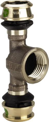 Viega T-Stück mit SC-Contur Raxofix 5317 in 25mmxRp1/2x25mm Siliziumbronze