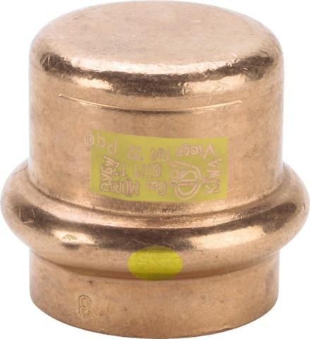 Viega Verschlusskappe m. SC-Contur Profipress G 2656 für Gas in 35mm Kupfer