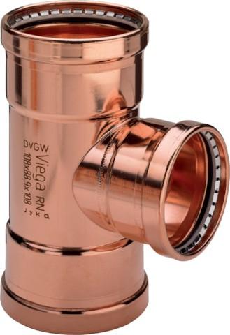 Viega T-Stück Profipress XL 2418XL in 64,0x42x54,0mm Kupfer