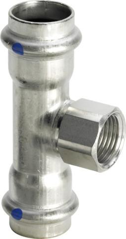 Viega T-Stück mit SC-Contur Sanpress Inox 2317.2LF in LABS-frei in 28mmxRp1/2x28mm