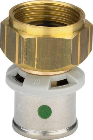 Viega Verschraubung mit SC-Contur Sanfix P 2163 in 25mm x G1 Rotguss