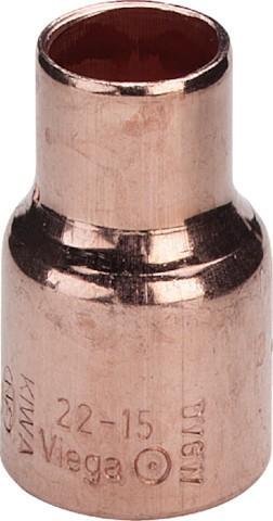 Viega Muffe reduziert 95240 in 15x12mm Kupfer