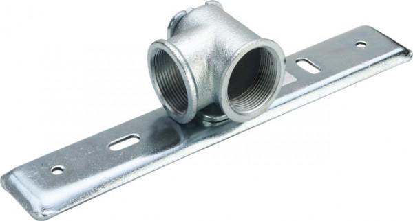 Viega Gaszähler-Anschlussplatte G23243 in Rp1 1/2 Stahl verzinkt