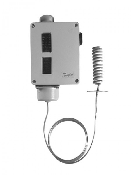 Danfoss Thermostat RT 140, 15 - 45 C, 2m + Fühlerspirale