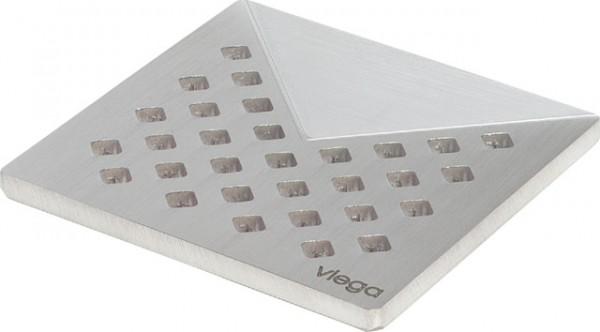 Viega Rost 4928.1 in 100x100mm Edelstahl matt-vernickelt