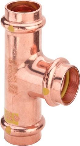 Viega T-Stück mit SC-Contur Profipress G 2618 für Gas in 42x28x42mm Kupfer