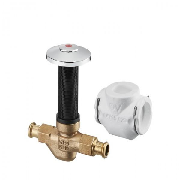 Oventrop Zirk.-Ventil Aquastrom UP-Therm DN15,15mm Pressan.,57 C,Rg,Schutzabdeck.