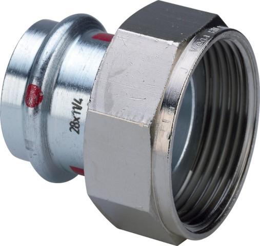Viega Verschraubung mit SC-Contur Prestabo 1163 in 42mm x G2 Stahl verzinkt