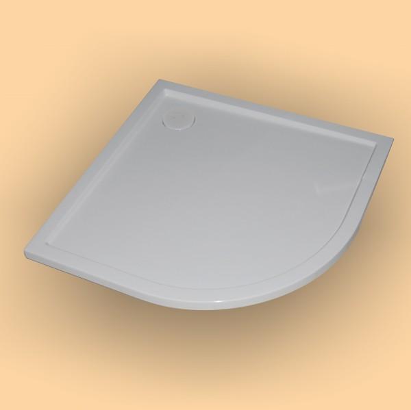Hüppe Duschwanne Purano 1/4 Kreis 90/80, weiß