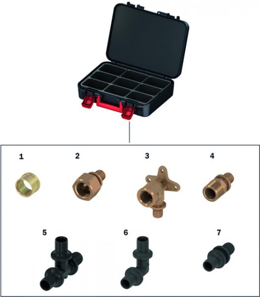 TECEflex Starterset Rotguss/PPSU, Dimension 16