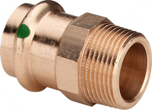 Viega Übergangsstück mit SC-Contur Sanpress 2211 in 22mm x R3/4 Rotguss