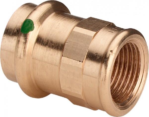 Viega Übergangsstück mit SC-Contur Sanpress 2212 in 22mm x Rp3/4 Rotguss
