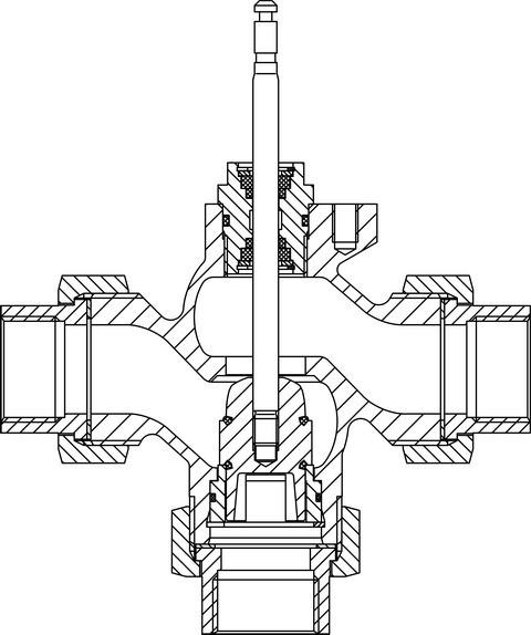 TA Regelventil Typ CV 316 RGA PN 16, DN 50, Kvs-Wert 40,0