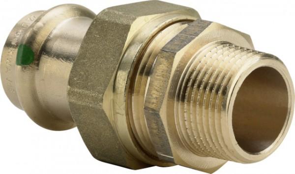 Viega Verschraubung mit SC-Contur Sanpress 2265 flachdichtend in 22mm x R1/2 Siliziumbronze