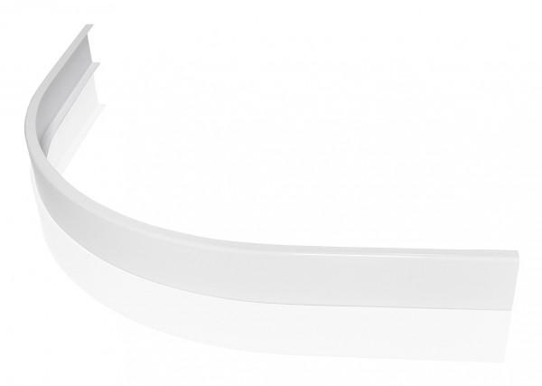 Hüppe Duschwanne Purano 1/4 Kreis Schürze 90/120, 202177 weiß