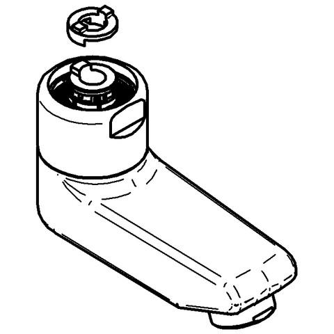 44045126 EICHELBERG Gussauslauf 440451 77mm für WT-Wandarmaturen chrom